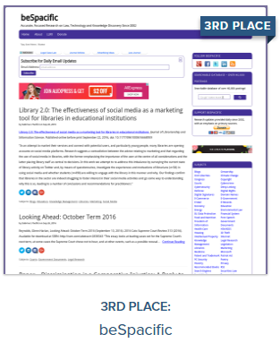Best Legal Blog 3rd Place